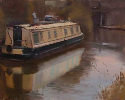 Rob Pointon ROI, Narrowboat Reflection, 06/2020
