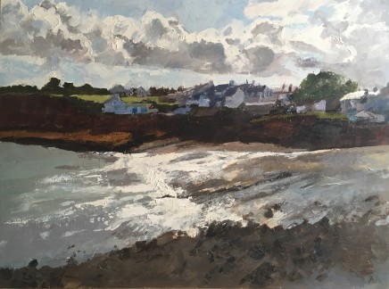 Anne Aspinall MAFA, Moelfre, Sunshine and Storm Clouds
