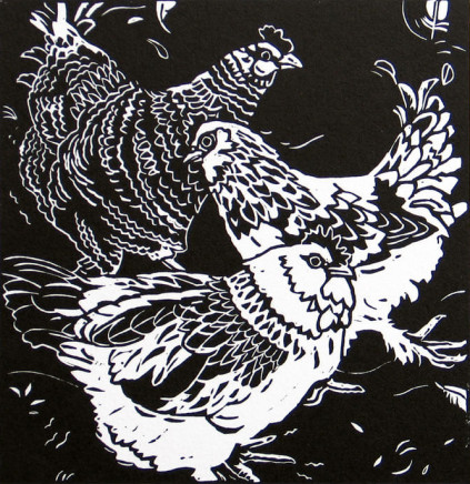 Ann Lewis RCA, Three Flirty French Hens