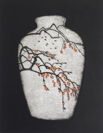 Sally Spens, Persimmon Tree, January in Kyoto