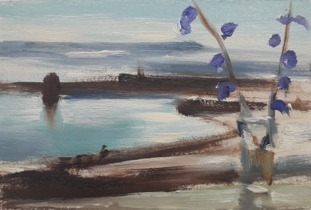 Liam Spencer, Winter Reservior with Flowers, 2018