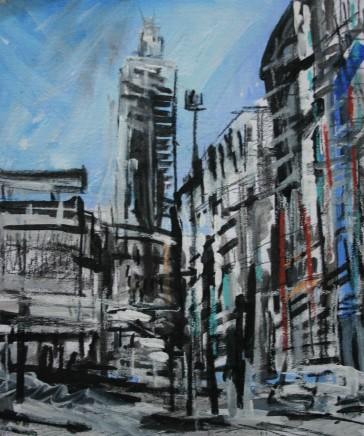 Matthew Thompson, Street Scene near Oxford Road Station, 2019