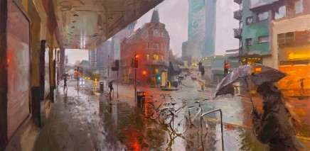 Rob Pointon ROI, Glossy Footprints, Oxford Road, 2020