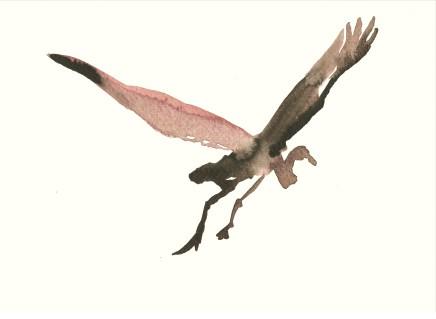 Liam Spencer, Great Egret in Flight, 2020