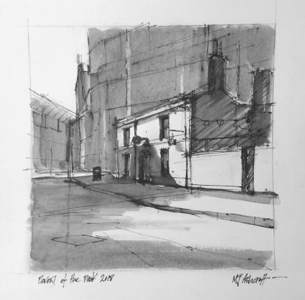 Michael Ashcroft MAFA, Peveril of the Peak, Ink Drawing, 2018