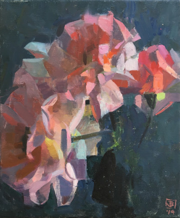 James Bland NEAC, Vertical Roses 1
