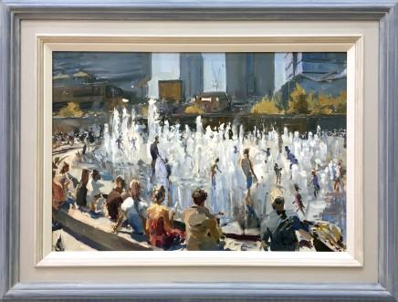 Rob Pointon MAFA, Piccadilly Gardens Fountains