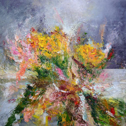 Matthew Bourne, Wilting Early Summer Bouquet, Lilies and Roses, 2020