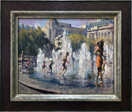 Rob Pointon AROI RBSA MAFA, Cooling Off, Piccadilly Gardens