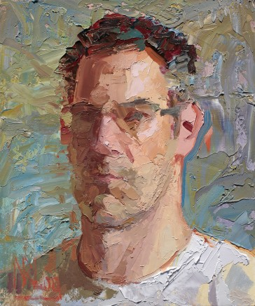Norman Long MAFA, Self Portrait On A Knife Edge