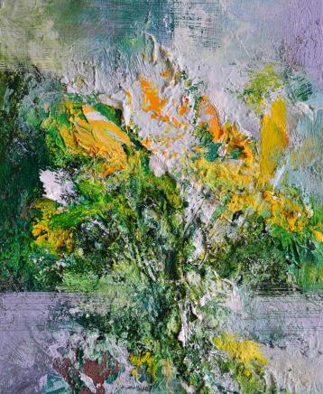 Matthew Bourne, Daffodils, Window Pane, Garden, 2020