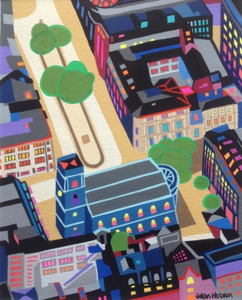 Jean Hobson, St. Ann's Square (Study)