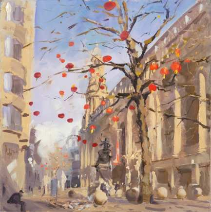 Rob Pointon ROI, Chinese Lanterns in St. Annes Square, 2021