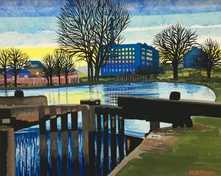 Jean Hobson, Mill Lock Gates, Manchester (Study)