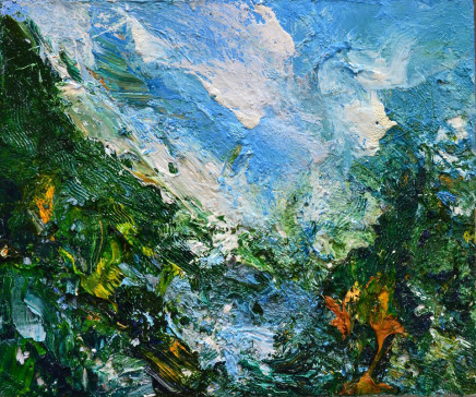 Matthew Bourne, Distant Mountain, Tree Line Valley, Lying Water, 2019