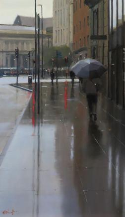 Michael Ashcroft AROI MAFA, Walking Towards the Library, Manchester, 2020