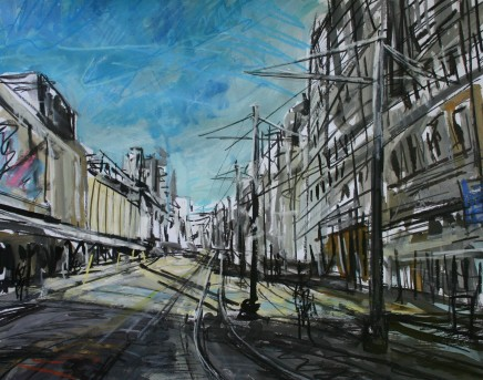 Matthew Thompson, Sunlight on Tramlines near Arndale
