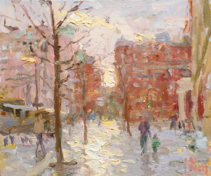 Norman Long MAFA, Winter Sun, St. Peter's Square, 2020
