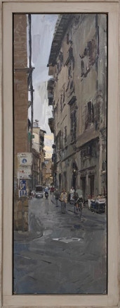 Peter Brown ROI NEAC, Florence Street Scene