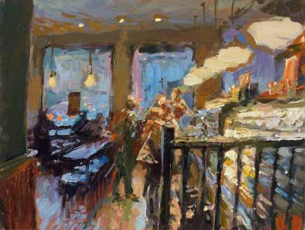 Rob Pointon ROI, Café Interior, 02/2020
