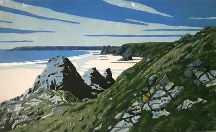 Ann Lewis RCA, Descent into Three Cliffs Bay, 2020