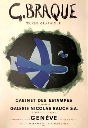 Georges Braques, Cabinet des Estampes, 1958