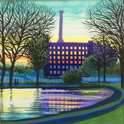 Jean Hobson, Victoria Mill (Study in Purple), 2020