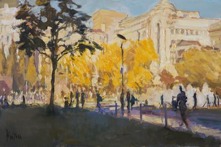 Rob Pointon AROI RBSA MAFA, Blazing Trees, Piccadilly Gardens, 2018