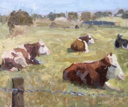 Adam Ralston MAFA, Resting Cows, Kirkham, 2018