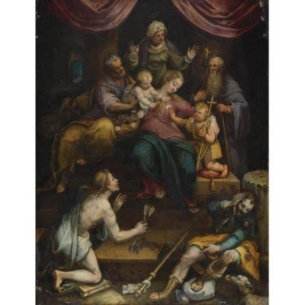 Denys CALVAERT, The Holy Family with the Infant Saint John, Circa 1610-1619