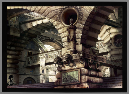 Emily Allchurch, Urban Chiaroscuro VII (after Piranesi), 2007