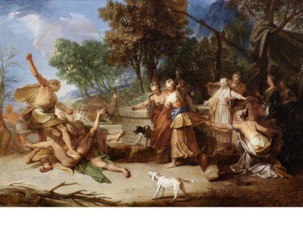 Nicolas BERTIN, Moses defending the daughters of Jethro