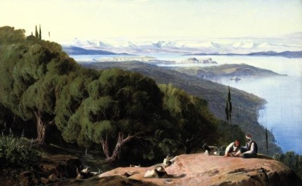 Edward LEAR, Corfu from the Hill Gastouri, 1857-8
