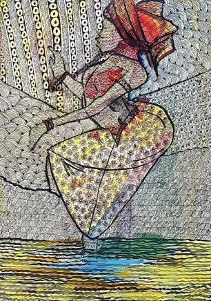 Nike Davies-Okundaye, Dancing for Joy, 1999