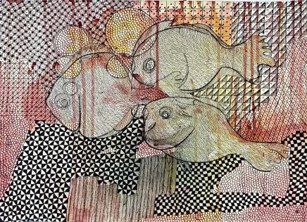 Nike Davies-Okundaye, Fish of like Minds, 2001