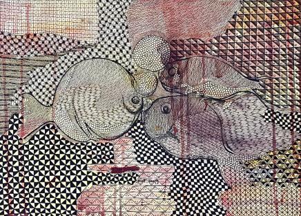 Nike Davies-Okundaye, Fish Family, 2003