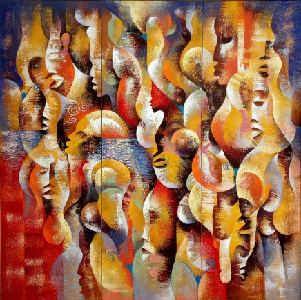 Wiz Kudowor, Composition of Flesh III (triptych), 2008
