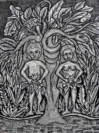 Nike Davies-Okundaye, Adam and Eve First Love, 1978
