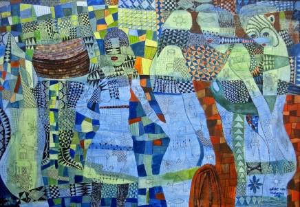 Nike Davies-Okundaye & Tola Wewe, Pillars of Love, 2010