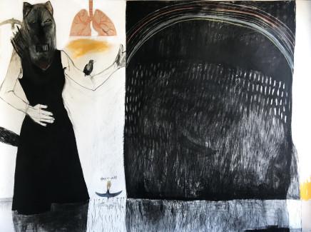 Suzy O'Mullane, Black Rainbow (unframed), 2021