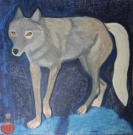 Suzy O'Mullane, Snowy The Wolf (unframed), 2021