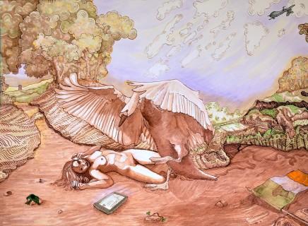 Ursula Burke, Leda and the Swan , 2015