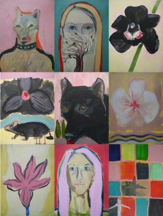 Suzy O'Mullane, The New Everyday (9 panels), 2021