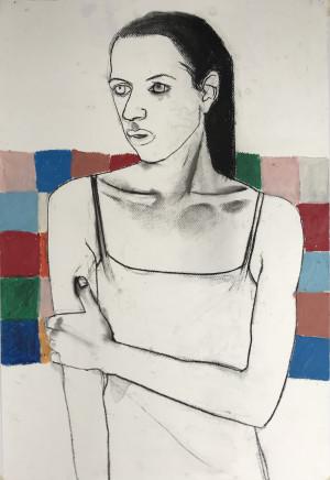 Suzy O'Mullane, Against the Tiles (unframed), 2021