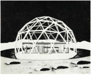 George Bolster, Proposition 1: Moon Museum of Architecture featuring The Glass House by Philip Johnson, 2017., 2017