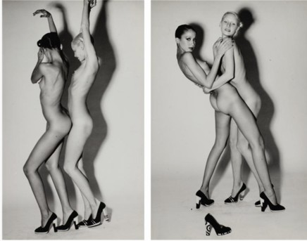 Guy Bourdin, Nudes Wearing Charles Jourdan Shoes, c.1965-1971