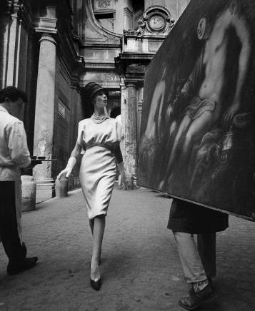 William Klein, Simone + Painting + Coffee, Rome (Vogue), 1960