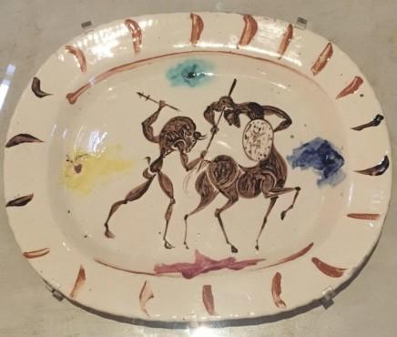 Pablo Picasso, Plat long (Combat entre Centaure et Minotaure), 1957