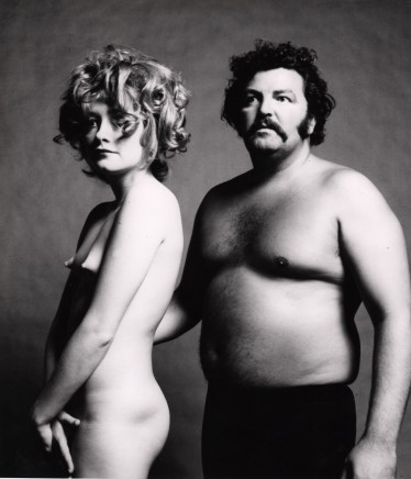 Guy Bourdin, Nude with Strongman, before 1972