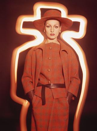 William Klein, Antonia + Orange Plaid, Paris (Vogue), 1962